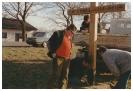 Aufbau des Wegekreuzes 1988