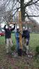 Montage des neuen Kreuzes