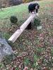 Neuer Holzfuß wird angepasst